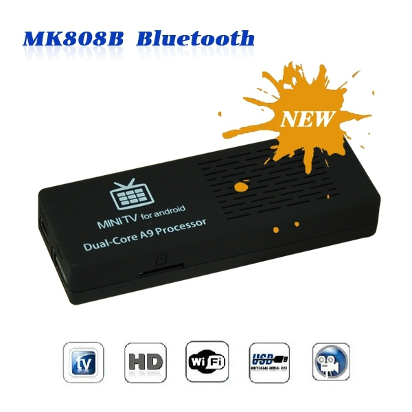 2014 MK808 Android 4.2 HDMI TV Stick TV Dongle Rockship RK3066 Dual Core 1GB 8GB Mini PC Android MK808B Bluetooth free shipping(China (Mainland))