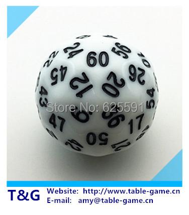 [해외]T & A, G 주사위 화이트 (60) 양면 D60 주사위 Brinque..