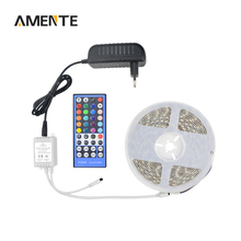 Buy Waterproof RGB, W /, WW 12V Light String 5050 5M 60LEDs/M LED Strip Lamp Tape Ribbon + 3A Power Adapter + 40 key Controller for $15.32 in AliExpress store