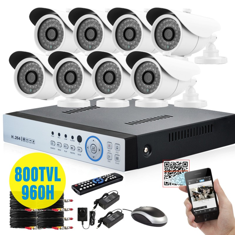 HD video surveillance 800tvl IR CUT Outdoor Waterproof Security Camera System 8Channel CCTV 960H DVR system DVR kit USB 3G WIFI(China (Mainland))