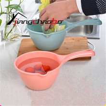 Buy Handmade Big Plastic Ladle Water Spoon Phoebe Old Paint Long Handle Eco-friendly Kitchen Tool PP Baby Bath Gourd Ladle for $3.61 in AliExpress store