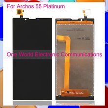 Black For Archos 55 Platinum Phone Full LCD Screen Display Digitizer With Touch Screen Complete Assembly Tracking Code Free Ship(China (Mainland))
