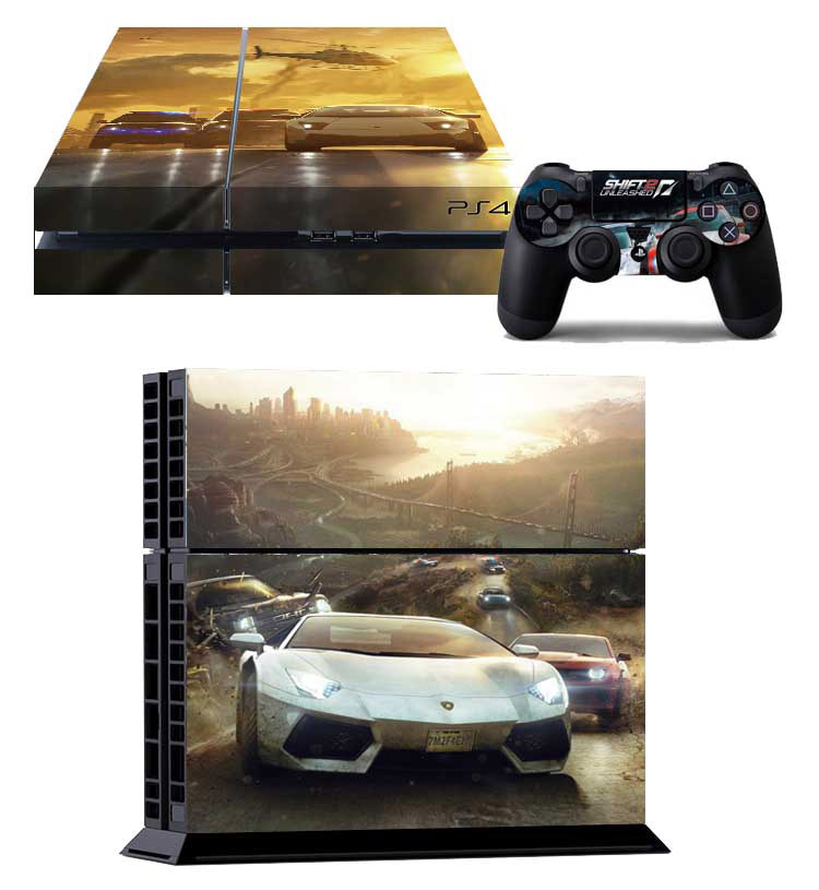 Need for Speed : Rivals Decal Sticker Skins For SONY Playstation 4 Decor Skin For PS4 Console + 2 Pcs Skins For Controller(China (Mainland))