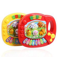 Hot Sale Baby Music Toy Kids Musical Animal Farm Piano Educational Developmental Free Shipping(China (Mainland))