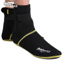 3mm Thicken Diving Socks/Shoes Scuba Snorkeling Boots Neoprene Wetsuit Prevent Scratche Jellyfish Warm Non-slip Winter Swimming(China (Mainland))