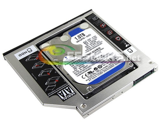 for Acer Aspire M5 M3 Series M5-481PT M3-581TG Laptop Internal 2nd HDD SATA 3 1TB Second Hard Disk Drive Optical Bay Replacement(Hong Kong)