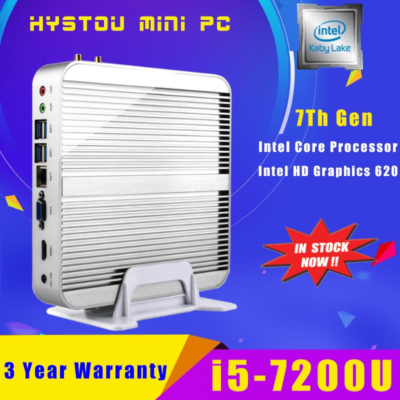 7Th Gen Kaby Lake Intel Computer CPU Fanless Core i5 7200U Mini PC Windows 10 Nettop NUC i5 Small Linux PC i3 7100U Set Top Box(China (Mainland))