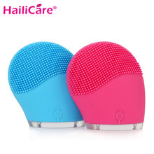 Hailicare Electric Face Cleanser Vibrate Waterproof Silicone Cleansing Brush Massager Facial Vibration Skin Care Spa Massage(China (Mainland))