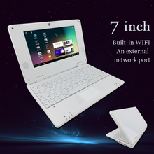 2015 new cheap 7 inch mini dual core laptop netbook android 4.1 keyboard netbook computer for sale notbook with russian keyboard(China (Mainland))