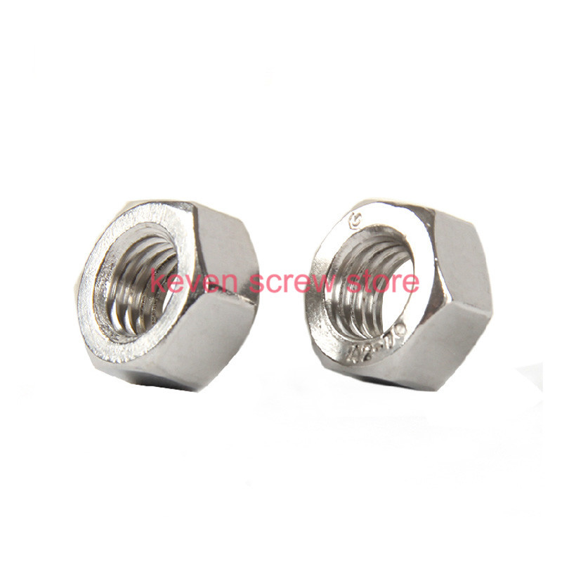 Free shipping 10pcs/lot Metric thread DIN934 M10 304 Stainless Steel Hex Nuts(China (Mainland))
