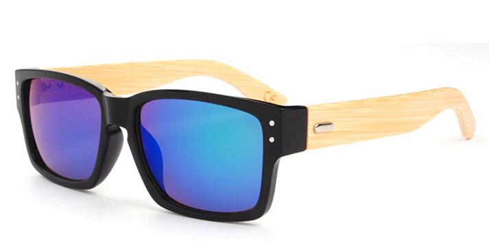 New 2016 Bamboo Sunglasses Men Wooden Sunglasses Women Brand Designer Mirror Original Wood Sun Glasses(China (Mainland))