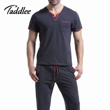 Men T Shirt Cotton Pajama Set Sleepwear Sleep Bottoms Yoga Long Pants Pajama Tees Undershirts Tshirts Brand Casual Short Sleeve(China (Mainland))