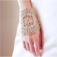 New Arrival Wedding hair accssories Crystal Bridal Bracelet Hand Chain sterling silver hair accessories bridal bracelets(China (Mainland))