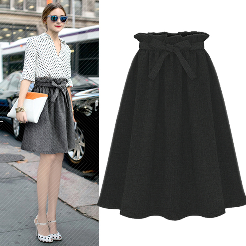 new fashion midi black skirt casual skirts womens