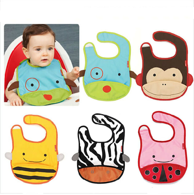 2015 New Zoo Bibs ZOO Story 11 design Waterproof baby bib Burp clothes(China (Mainland))