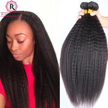 Kinky Straight Hair 7A Mink Brazilian Hair Weave Bundles Yaki Straight Human Hair Extensions Brazilian Virgin Hair Coarse Yaki(China (Mainland))