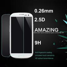 S3 2.5D 0.26 мм 9 H премиум закаленное стекло для Samsung Galaxy S3 i9300 с розничной упаковке против анти-разбиться протектор фильм