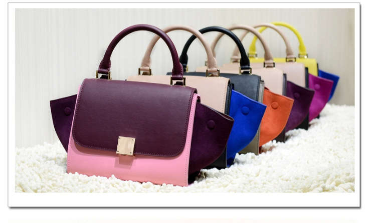 Fashion Mini mix-color Genuine Leather  tote/shoulder bag for woman<br><br>Aliexpress