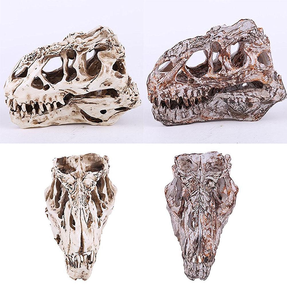 Retro Dinosaur Resin Skull Head Model Replica Skeleton Figurine Collection Home Bar Party Decor Best Hallowmas Gift(China (Mainland))