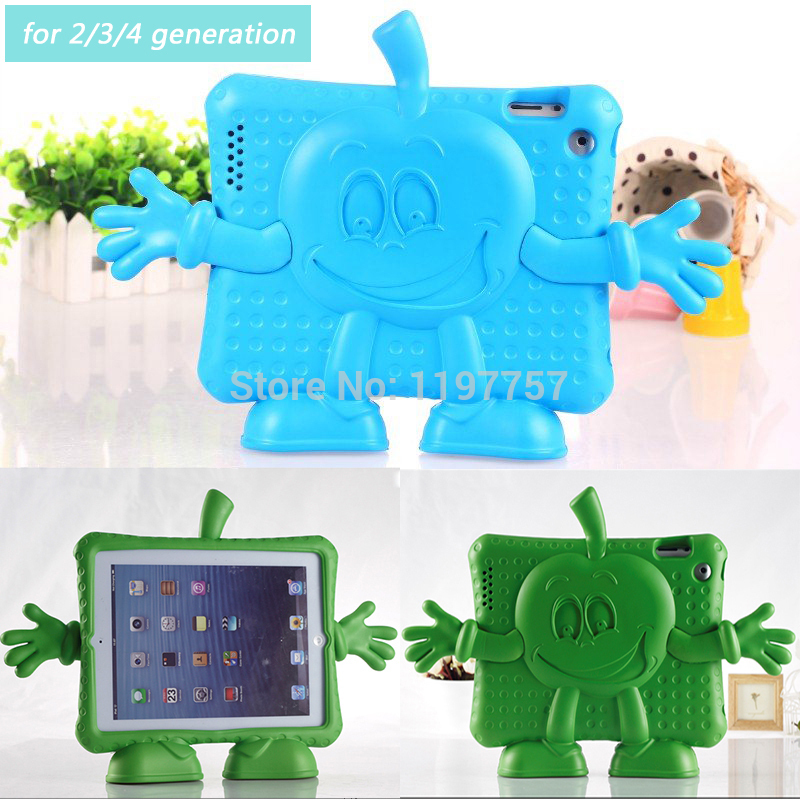 2015 free shipping Lovely Cute EVA Case for iPad 2 3 4 generation Anti Broken Full cover Special for Baby poison Environmental(China (Mainland))