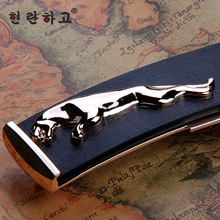 Free shipping men belt 2014 new fashion gold Jaguar mens luxury belts