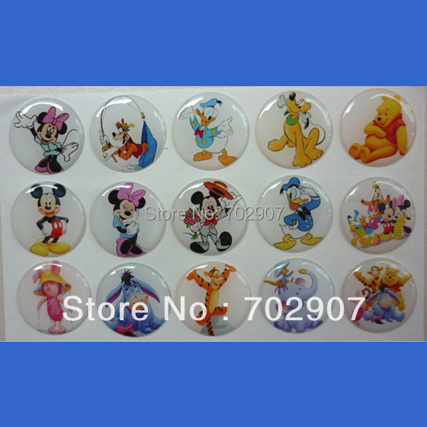 Wholesale 1500 pcs lot 1 inch round printed epoxy for Wholesale bottle caps for crafts