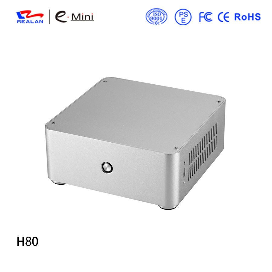 Realan H80 gaming Mini ITX computer case Aluminum PC case Chassis for without power supply(China (Mainland))