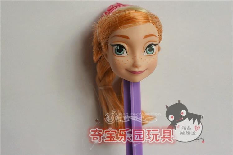 5pcs/lot Heads for elsa anna heads doll heads,doll equipment for barbie doll,princess doll heads DIY ladies present