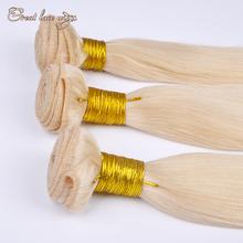 Лучший 613 # платиновая блондинка 3 шт. индийский человека девы реми прямые волосы 100% натуральный индийский богородицы белый блондинка наращивание волос