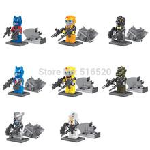 Robot Figures Toys 8pcs/lot Optimus Prime Bumblebee Megatron Minifigures Building Blocks Sets Model Bricks Classic Toys