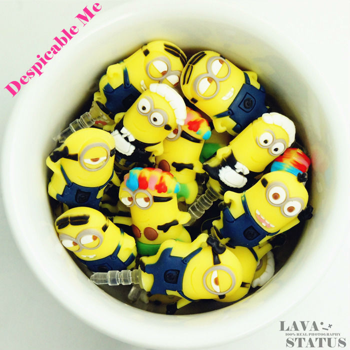 1 Piece Sell Cute Cartoon Despicable Me Minion Phone Anti Dust Plug Cap Phone Accessories For All Phone 3.5mm Earphone Jack Plug(China (Mainland))
