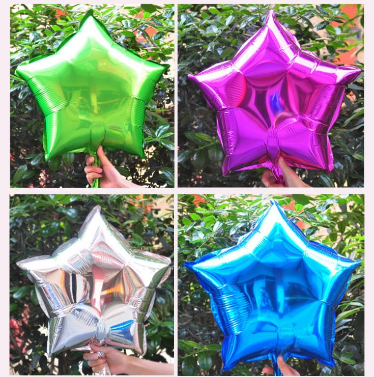 Free Shipping 10inch 10pcsFive-Pointed Star inflatables Toy For Wedding Birthday Party Inflatable Foil Balloons(China (Mainland))