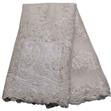 Buy French Embroidered Lace Fabric 2017 Latest African Mesh Tulle Bead Lace Fabric 5Y Nigerian Guipure Lace Fabric XY539B for $63.75 in AliExpress store