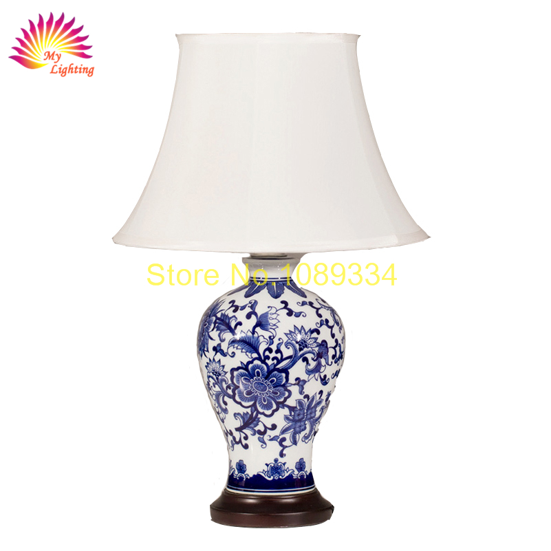jingdezhen blue and white porcelain table lamp in table. Black Bedroom Furniture Sets. Home Design Ideas