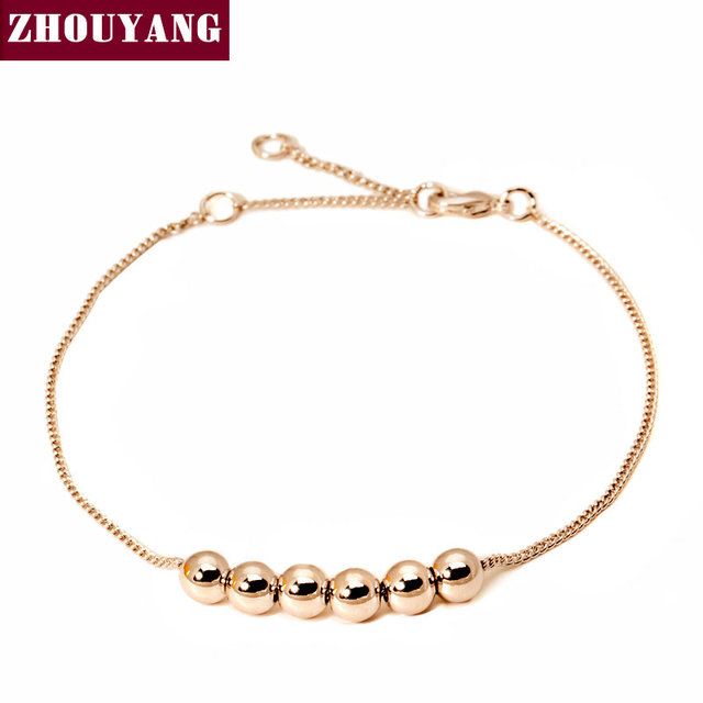 String Together The Happiness 18K Rose/WhiteGold Plated Link Chain Charm Bracelet Jewelry Top Quality  Wholesale ZYH083 ZYH205