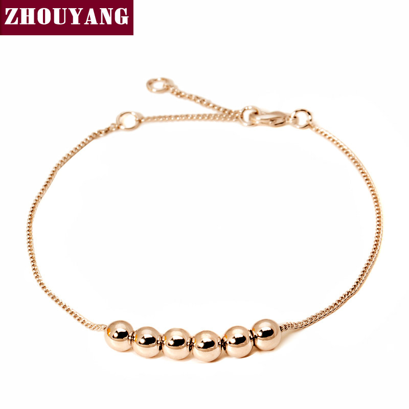 String Together The Happiness 18K Rose/WhiteGold Plated Link Chain Charm Bracelet Jewelry Top Quality Wholesale ZYH083 ZYH205(China (Mainland))