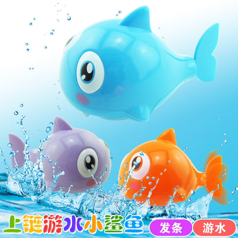 Stall selling children's toys wholesale creative mainspring chain swim shark on infant swimming bath toys(China (Mainland))