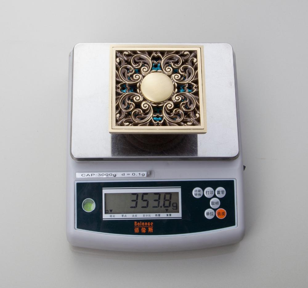 e pak Perfect L5401 1 Antique Brass Gravity Flushing Construction Real Estate Bathroom Floor Drain