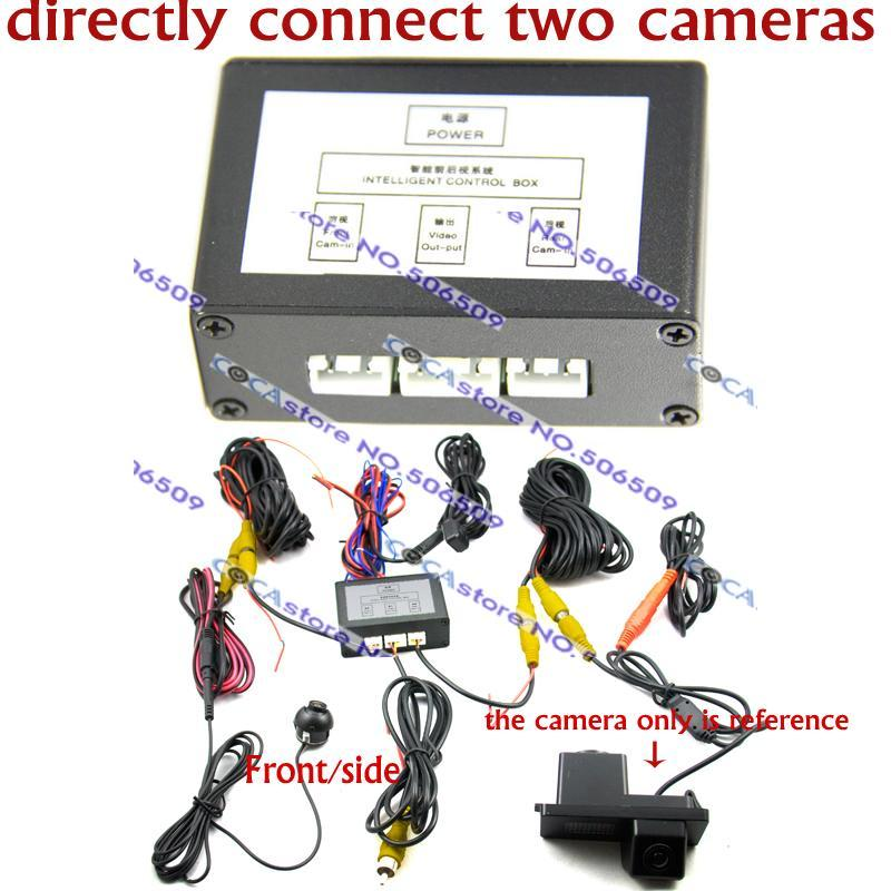 two Video switch intelligent car camera video control switch for front and rear car camera system Parking Assistance manual(China (Mainland))