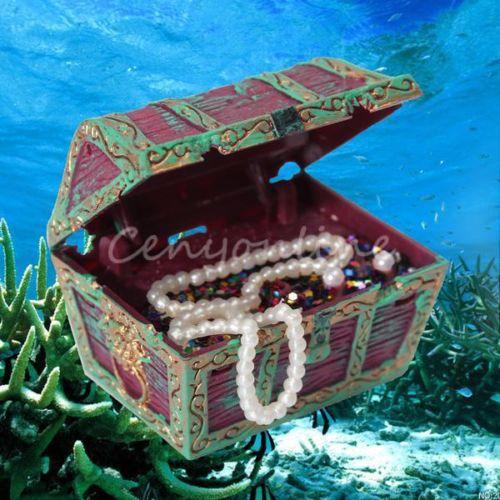 2014 top fasion real swimming pool accessories aquarium fish tank treasure ornament air action chest aerating underwater decor