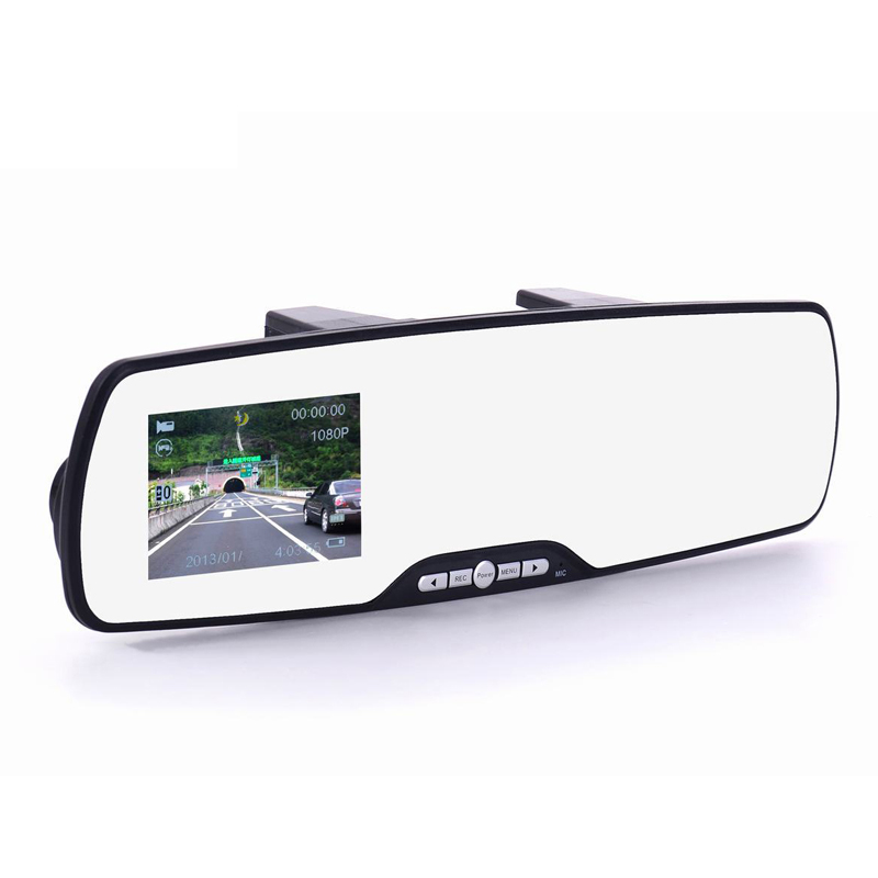 Car Camera Rearview Mirror DVR Parking Recorder IR Night Vision