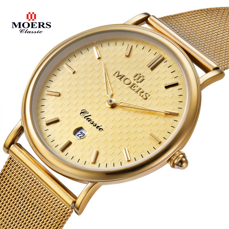 2015 Brand Moers CB-6005 watches men Casual fashion full stainless wristwatch Waterproof luxury gold Business clock reloj(China (Mainland))