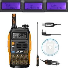 Baofeng GT-3 MarkIII TP 1/4/8Watt High Power Dual-Band 2M/70cm Ham Two-way Radio Walkie Talkie + Programming Cable&CD