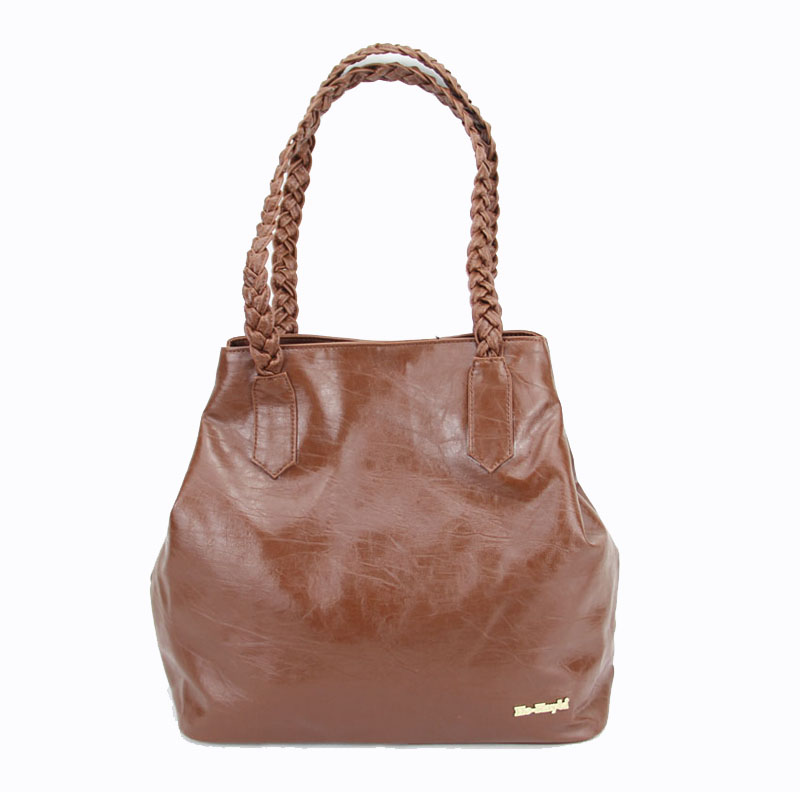 Latest style women's leather handbags brown totes made by advanced leather with 4 different color He-Kayla brand PH119(China (Mainland))
