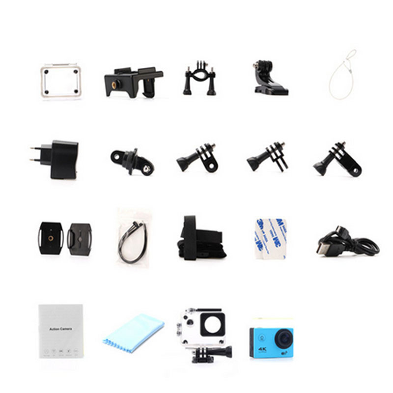 Add Camera bag Hot Sale Hero 4 Style Camera 4K F60 WiFi Sport extreme Diving Helmet