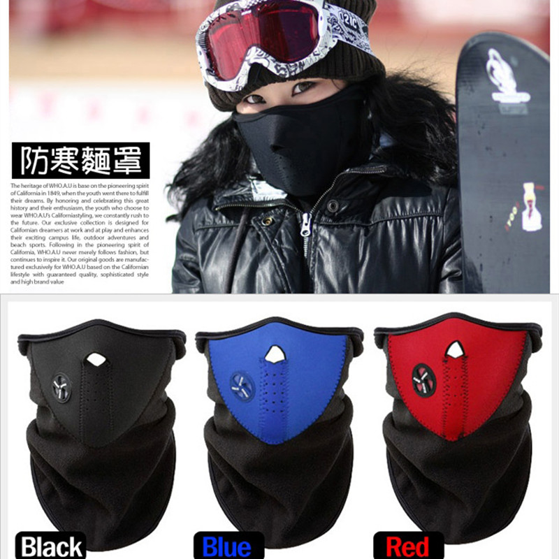Neck Warm Half Face Mask Winter Veil Windproof Sport Bicycle Motorcycle Ski Snowboard Outdoor Balaclava Masks