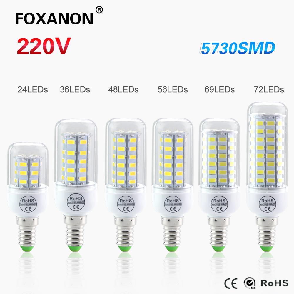 Lampada E14 Corn Led Bulb 5730 LED Light 220V CFL7W 11W 12W 15W 18W 20W Night Candle lamp 24 36 48 56 69 72Leds Lighting(China (Mainland))