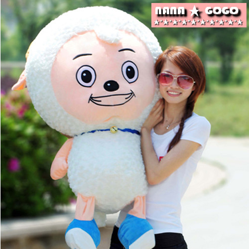 huge 100cm lovely sheep plush toy cartoon pleasant goat doll throw pillow, birthday present ,Christmas gift w5499<br><br>Aliexpress
