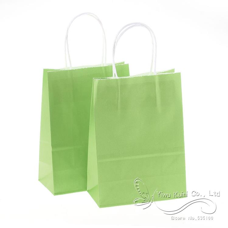 15821cm kraft paper gift bag festival gift bags paper for Wedding favor gift bags