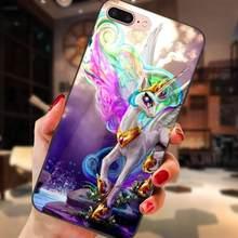 Чехол с рисунком из мультфильма «Мой Маленький Пони» с цветочным принтом радуга сладкий для Huawei Honor 5A 6A 6C 7A 7C 7X 8A 8C 8X9 10 P8 P9 P10 P20 P30 Мини Lite рlus(China)